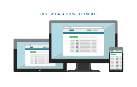 Review data on web devices